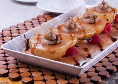 Glazed Pears with Nut Cream