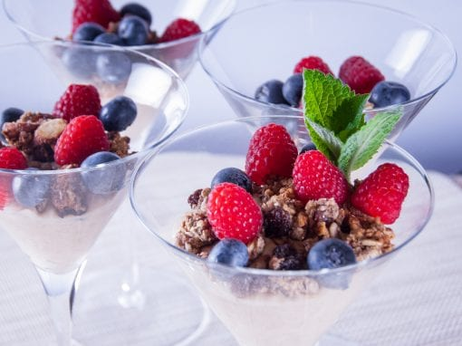 Oat Yogurt with Homemade Granola and Berries