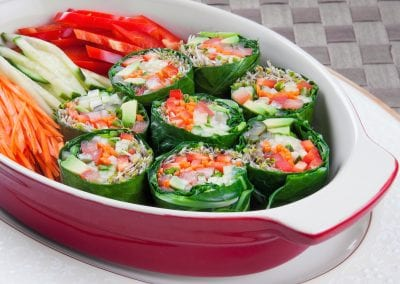 Collard Green Avocado – Vegetable Rolls
